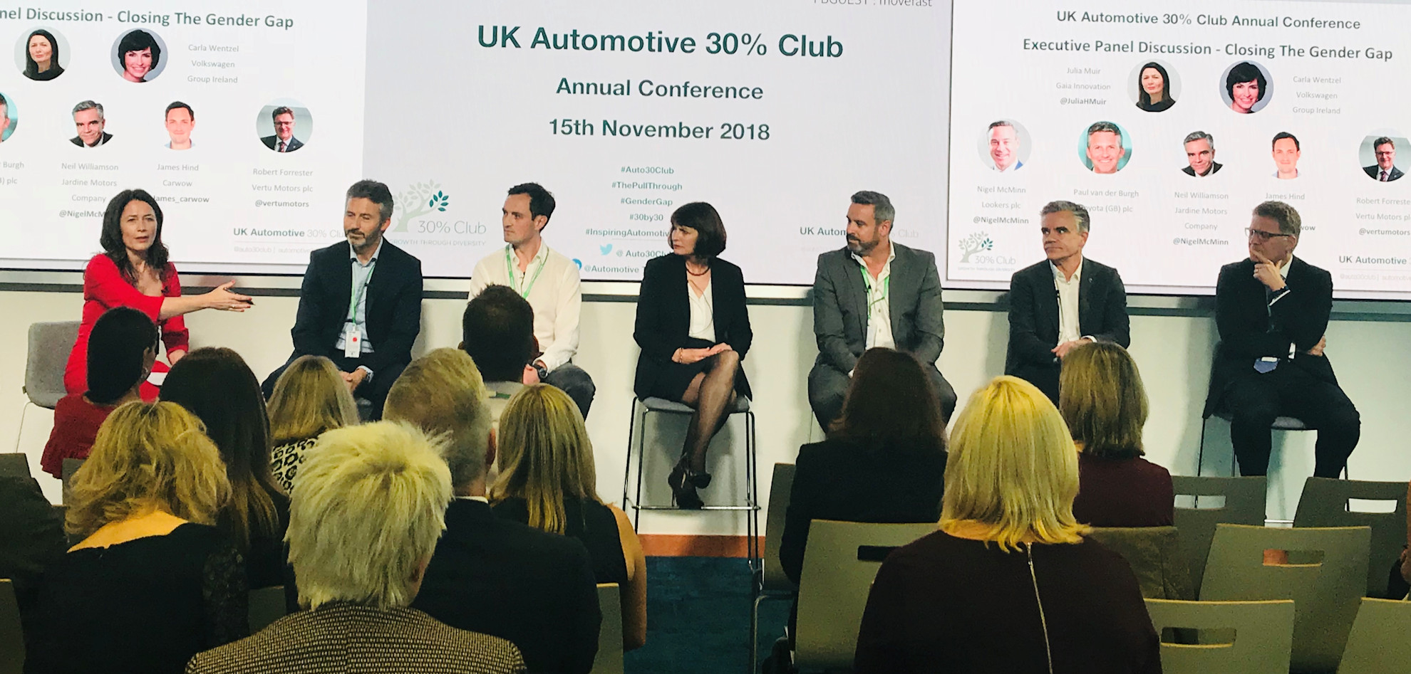 The UK Automotive 30% Club Executive Panel (photograph)